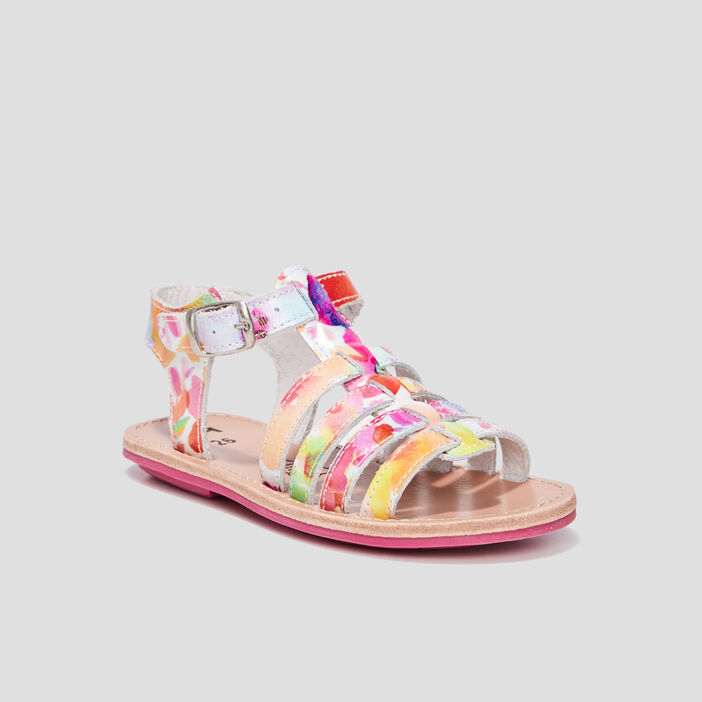 Sandales fille multicolore