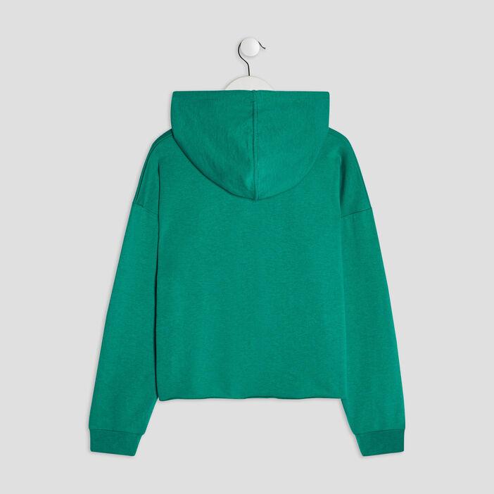 Sweat à capuche fille vert