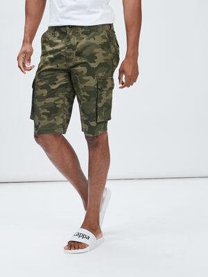 Bermuda cargo vert kaki homme