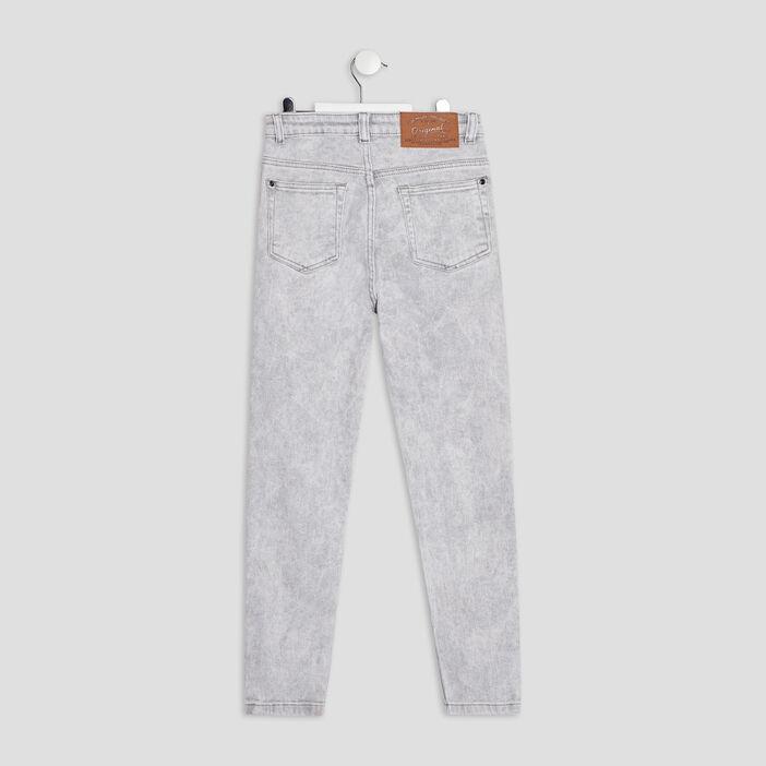 Jeans skinny fille gris