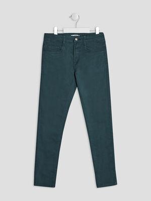 Pantalon skinny bleu canard garcon