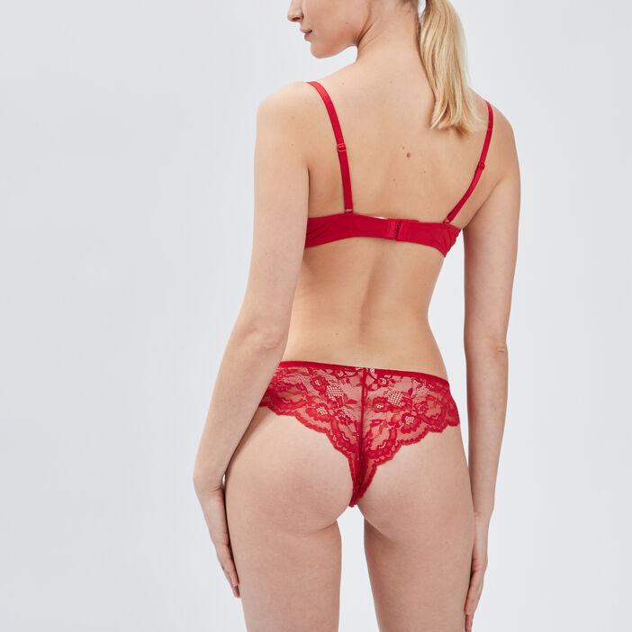 Soutien-gorge corbeille femme rouge