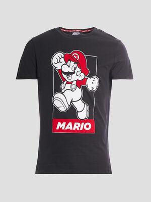 T shirt manches courtes Mario noir homme