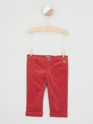 Pantalon uni 4 poches rouge garcon