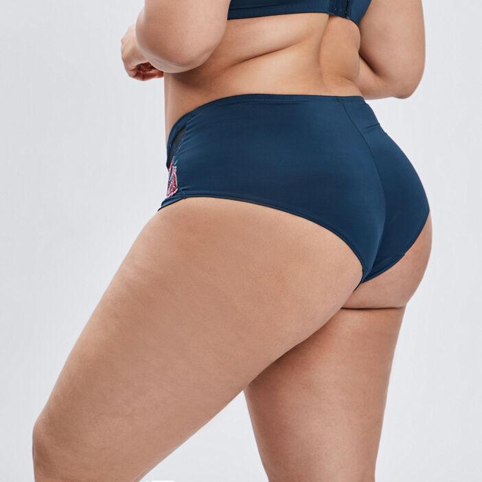 Culotte boxer femme grande taille bleu canard