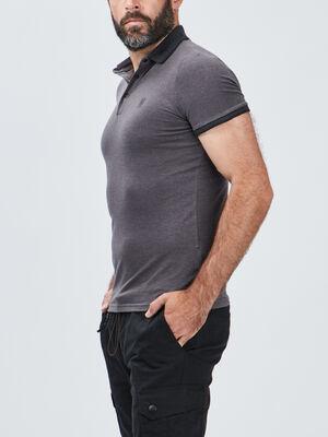 Polo manches courtes Liberto gris homme