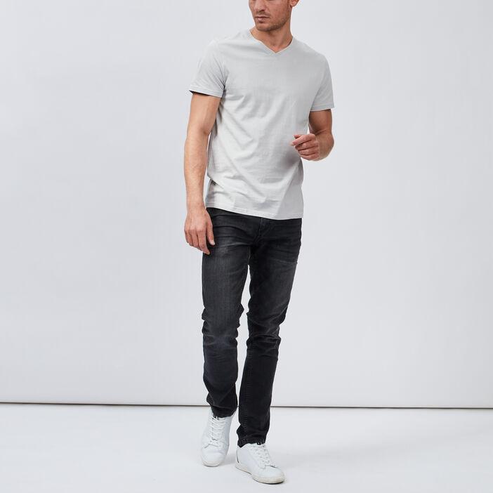T-shirt manches courtes homme gris clair