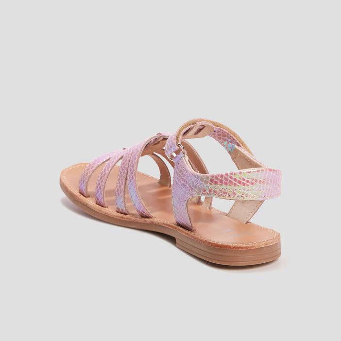 Sandales spartiates fille rose