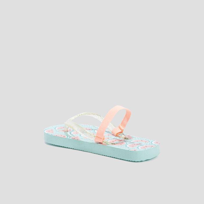 Sandales de plage fille bleu turquoise