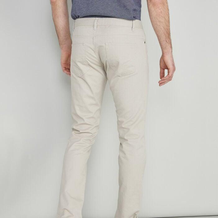 Pantalon droit coton uni homme ecru