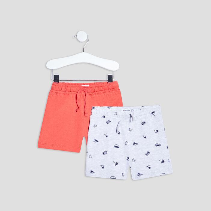 Lot 2 shorts bébé garçon rouge