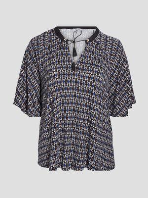 T shirt manches courtes bleu femmegt