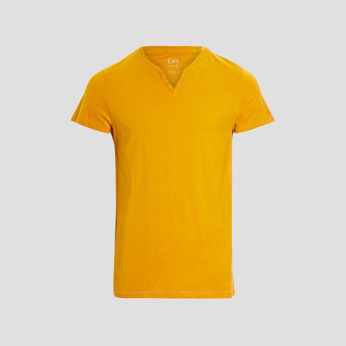 T-shirt manches courtes homme jaune