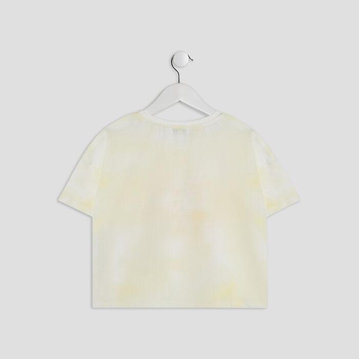 T-shirt manches courtes Creeks fille jaune