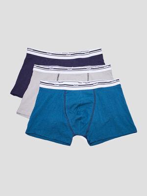 Lot 3 boxers DIM bleu marine homme