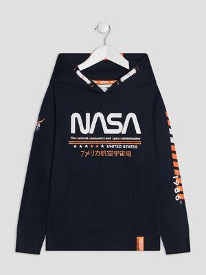 Sweat a capuche NASA bleu marine garcon