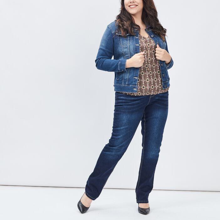 Blouson en jean grande taille femme grande taille denim stone