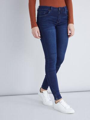 Jeans skinny taille basse denim brut femme