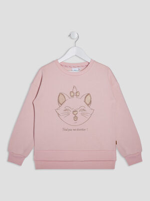 Sweat Les Aristochats rose fille