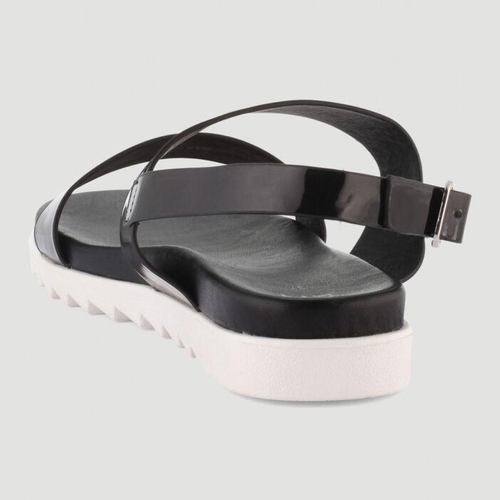 Sandales avec semelle sport femme noir