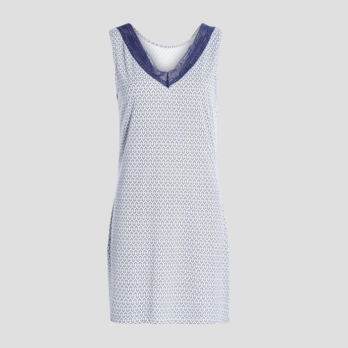 Chemise de nuit sans manches femme bleu marine