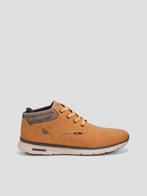 Bottines plates Creeks jaune homme