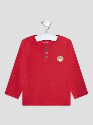 T shirt manches longues rouge bebeg
