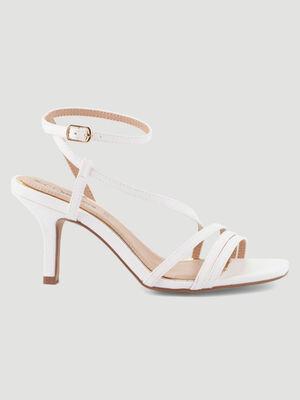 Sandales a talon aiguille blanc femme