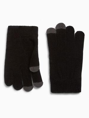 Gants avec bouts tactile noir garcon