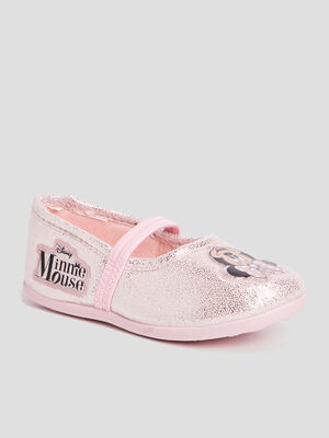 Chaussons Minnie rose poudree fille