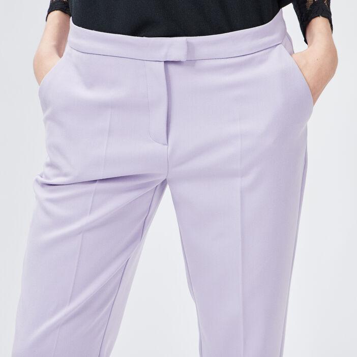 Pantalon droit à pinces femme parme