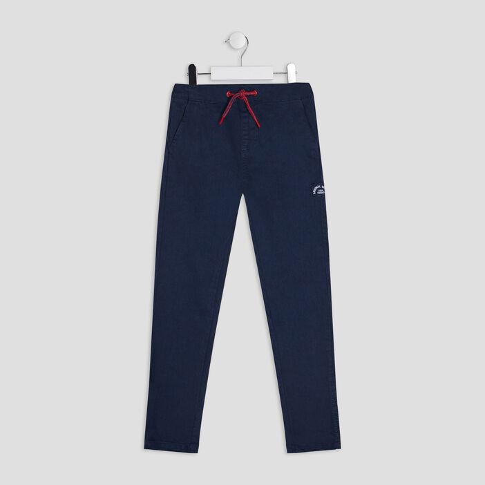 Pantalon droit Creeks garçon bleu marine