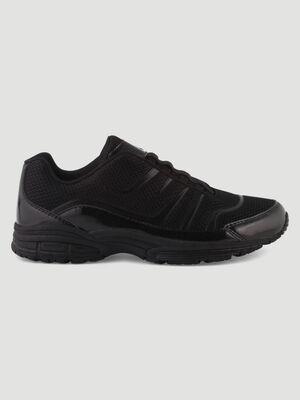 Runnings bimatiere a lacets elastiques noir femme