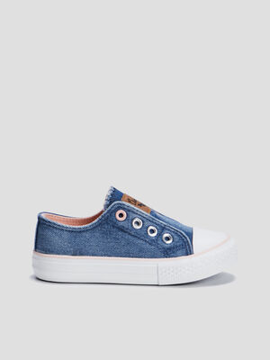 Baskets tennis Creeks bleu fille