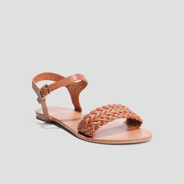 Sandale plates Creeks femme marron