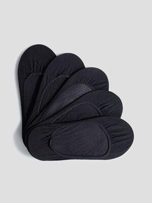 Socquettes protege bas noir femme