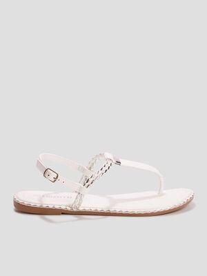 Sandales plates Liberto blanc femme