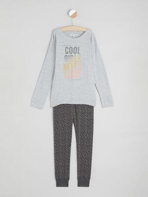 Pyjama gris fille
