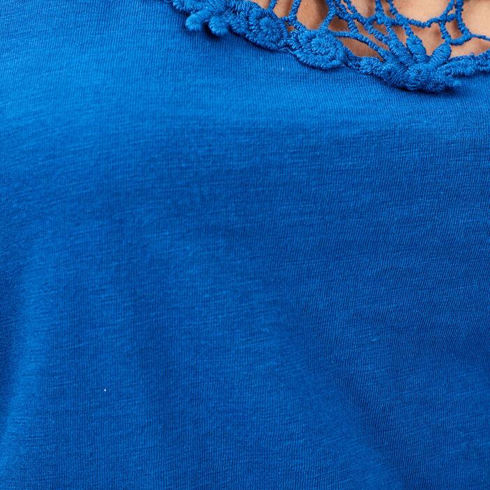 Débardeur bretelles larges femme bleu