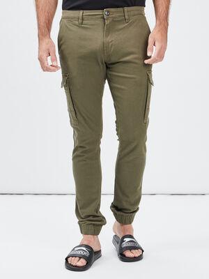 Pantalon straight Trappeur vert kaki homme