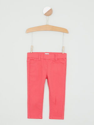 Jegging a poches rose fille