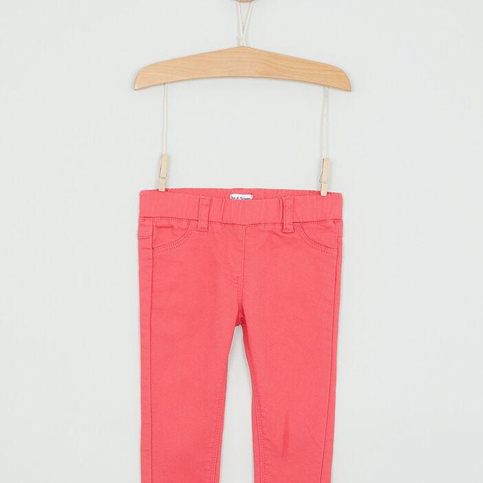 Jegging à poches fille rose