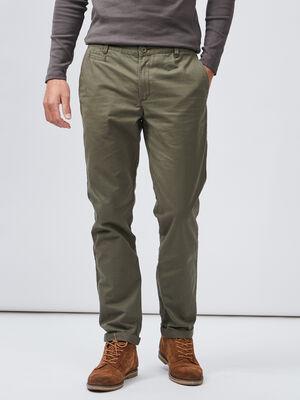 Pantalon droit vert kaki homme