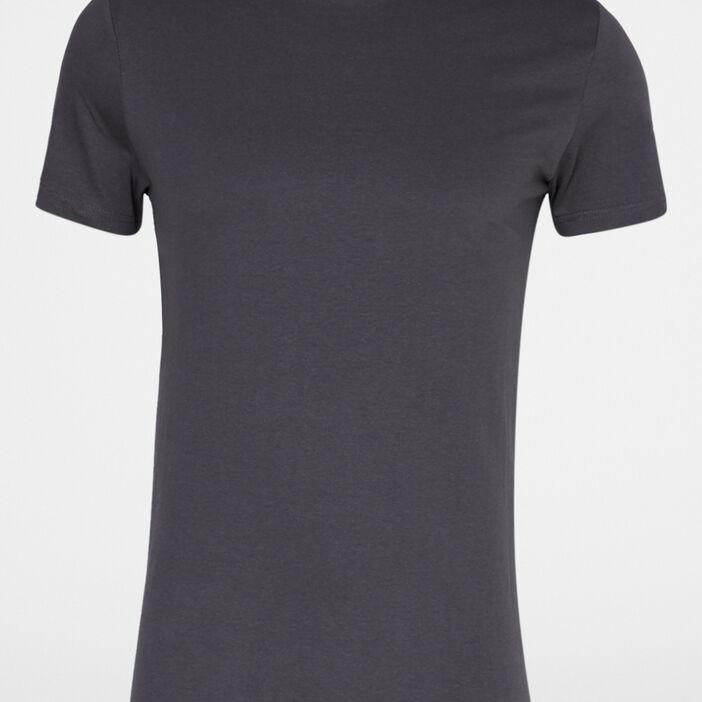 T-shirt col rond uni homme gris foncé