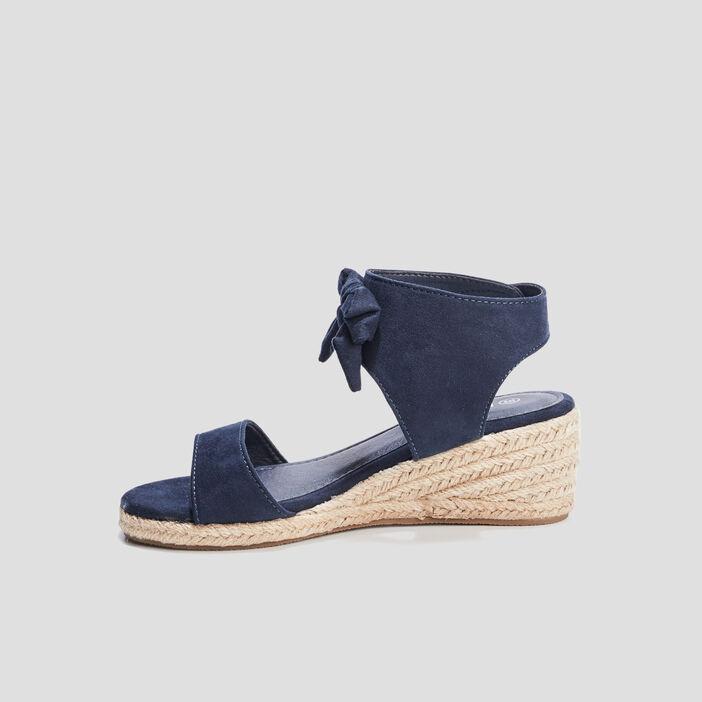 Sandales compensées Liberto fille bleu marine