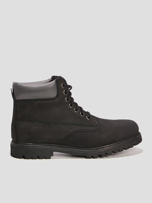 Bottines crantees noir homme
