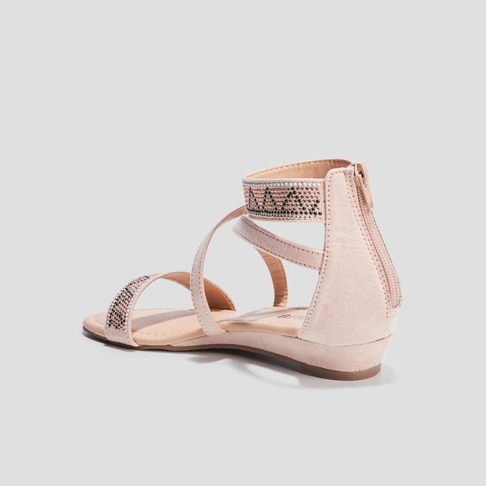 Sandales à strass Liberto fille rose