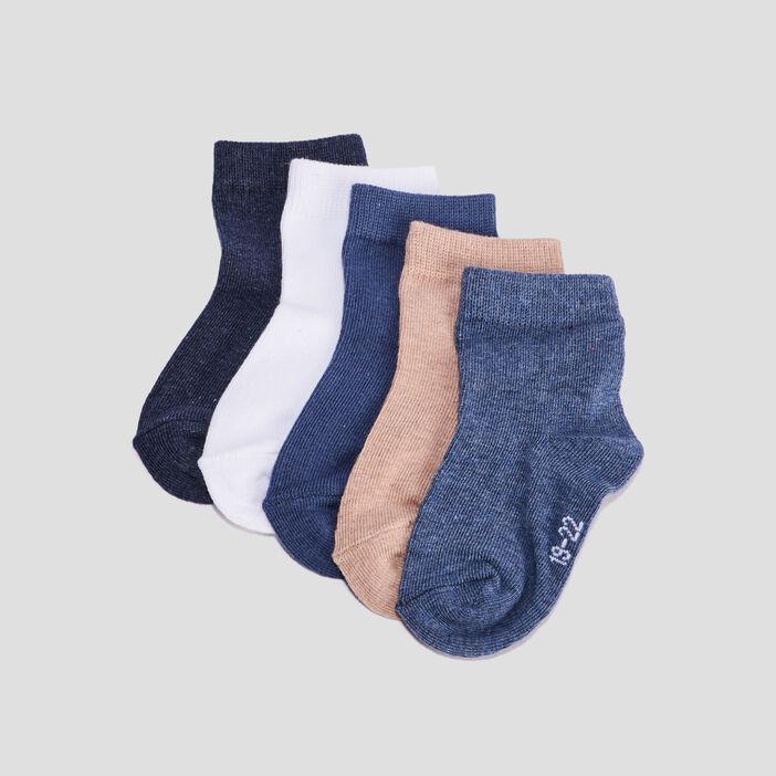 Lot 5 paires chaussettes bébé garçon multicolore