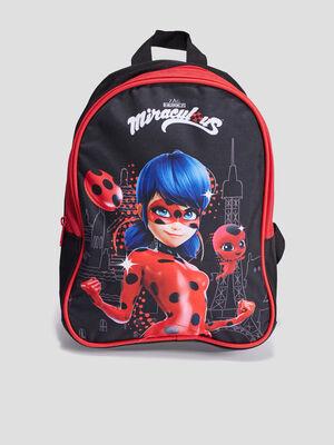 Sac a dos Miraculous Ladybug noir fille