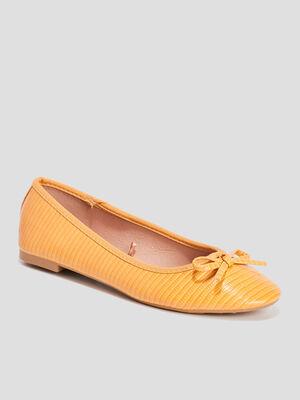 Ballerines jaune femme